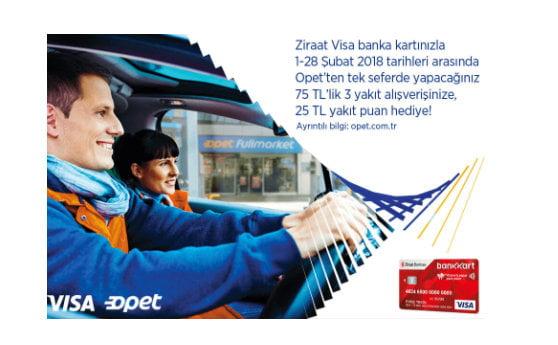 Ziraat Visa Bankkart Opet Kampanyası
